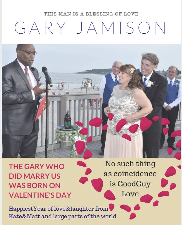 Gary wedding picture with love