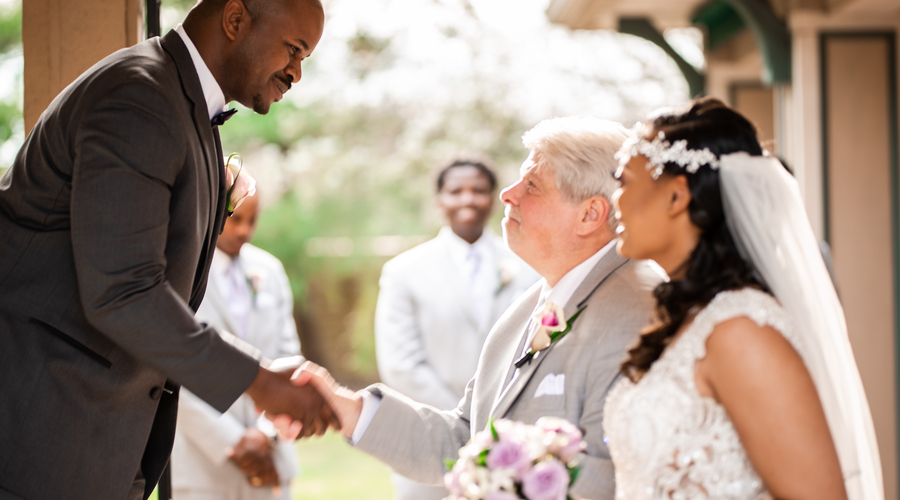 Father giving of the bride