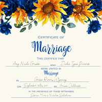 Filledinsunflowermarriagelicensesunflower