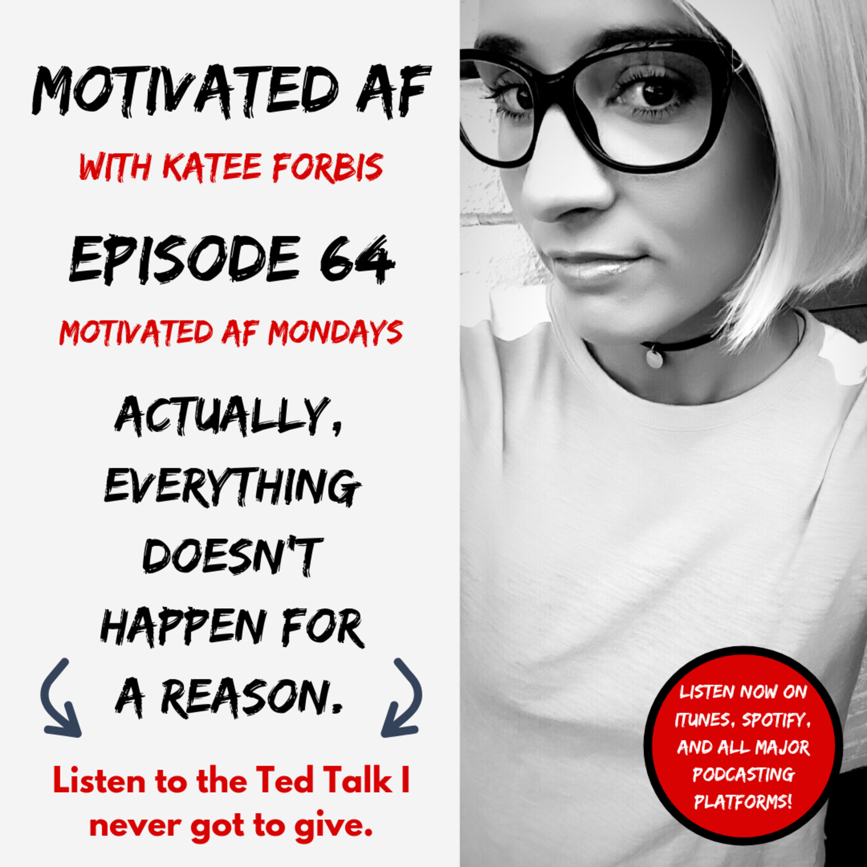 """Ep. 64 - """"Actually, Everything DOESN'T Happen For A Reason"""" aka The Ted Talk I Never Got To Give"""