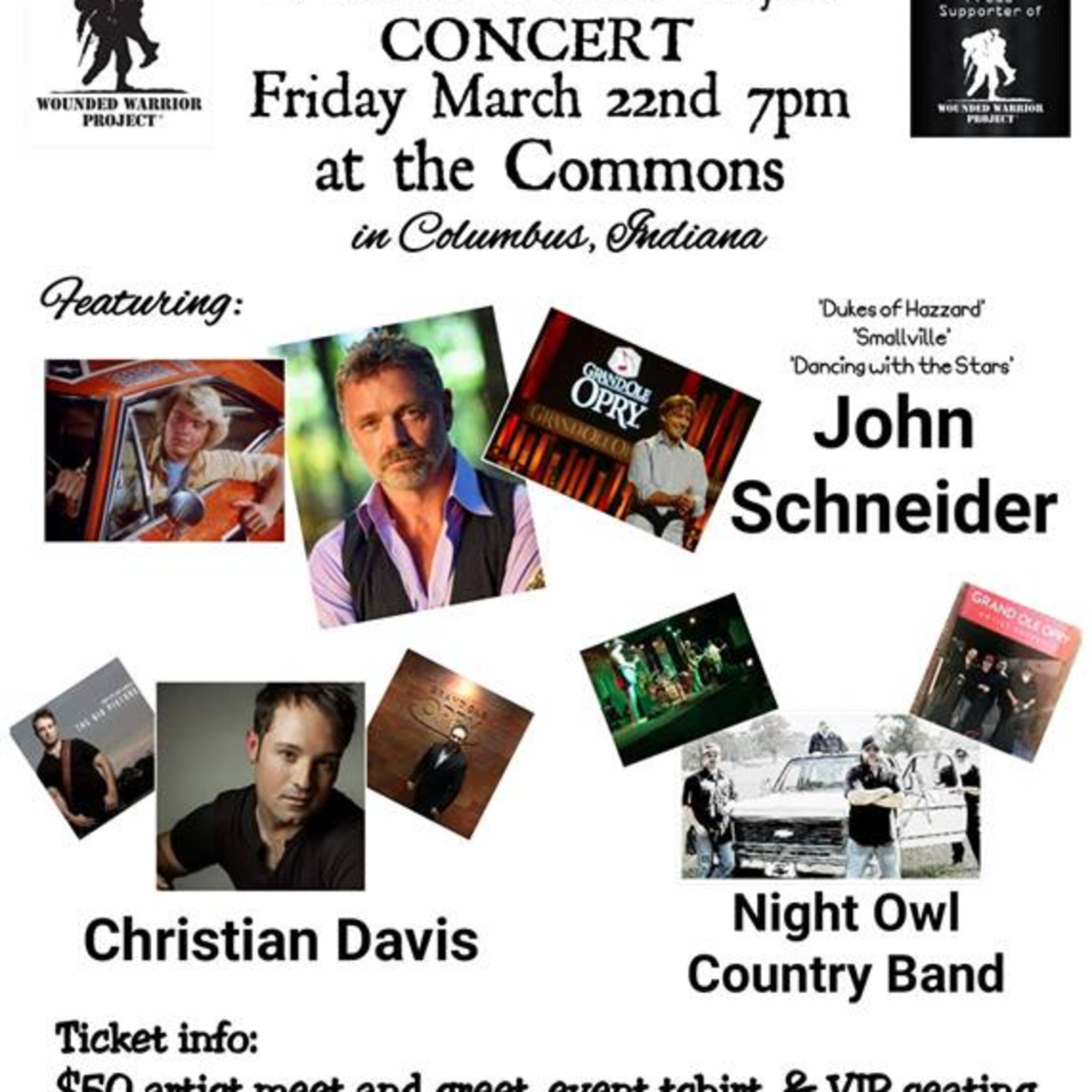 WWP Concert Recap with Music from John Schneider and the Night Owl Country Band