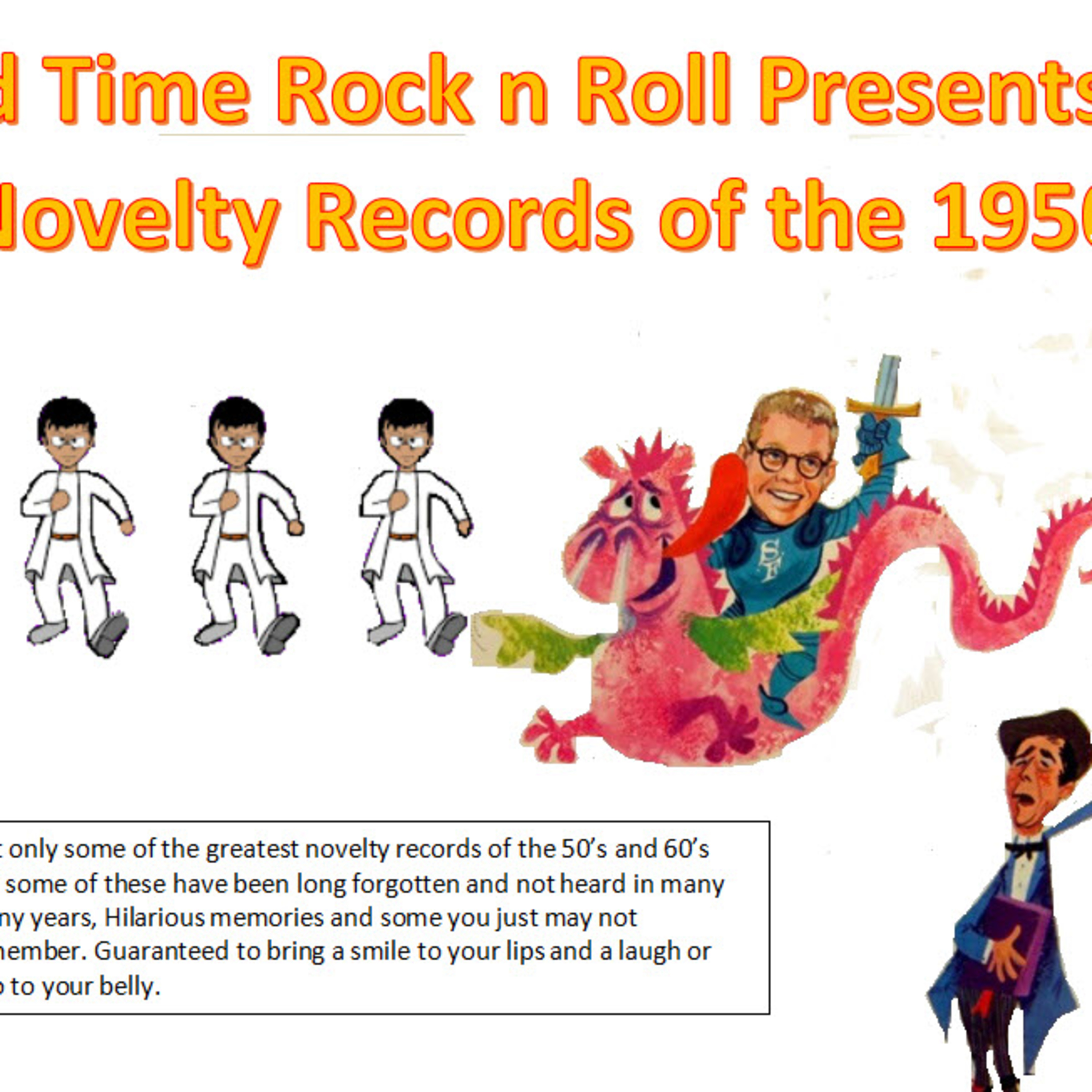 Show # 881: Top 40 Novelty Records of the 50;s and early 60's