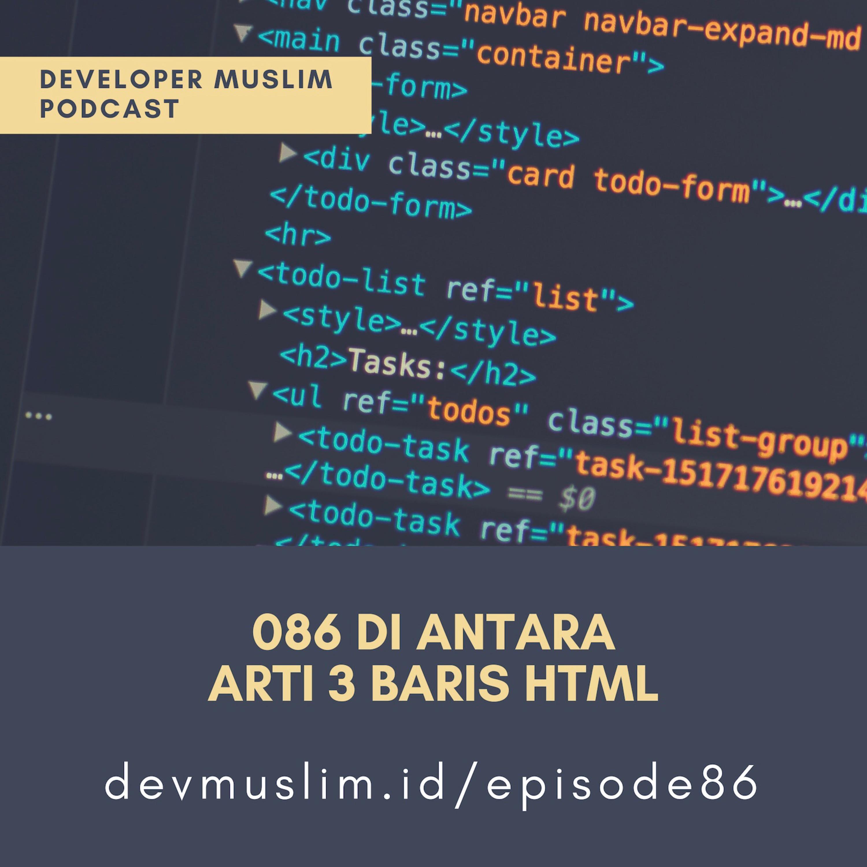 086 Di Antara Arti 3 Baris HTML