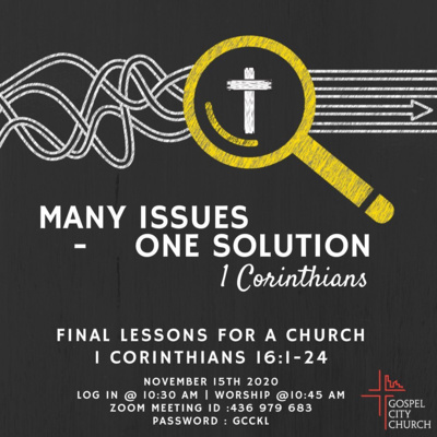 Final Lessons For A Church