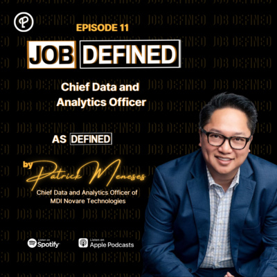 Episode 11: Chief Data and Analytics Officer — Job Defined by Patrick Meneses (MDI Novare Technologies)