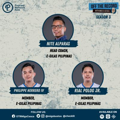 S03E08 (Part 1): Nite Alparas, Philippe Herrero IV, & Rial Polog Jr. of E-Gilas Pilipinas