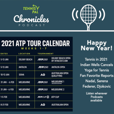 Happy New Year 2021 Tennis! Indian Wells Cancels + Yoga for Tennis Book + Fan Favorite Reports feat Roger Federer, Rafael Nadal, Serena Williams, Novak Djokovic Podcast