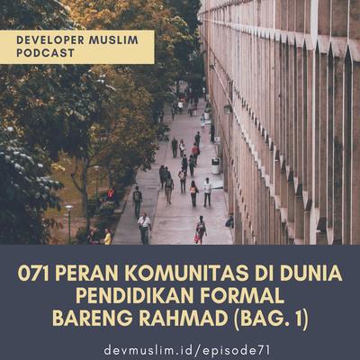 071 Peran Komunitas Di Dunia Pendidikan Formal Bag. 1