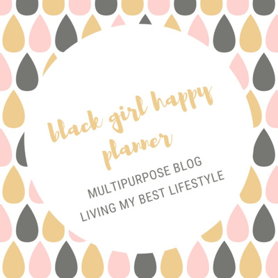 black girl happy planner