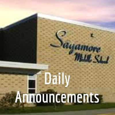 Sagamore Daily Announcements
