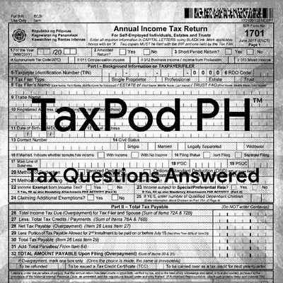 TaxPod PH (Tax Questions Answered)