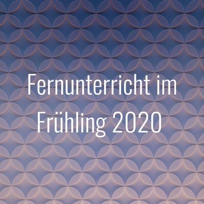 Fernunterricht im Frühling 2020