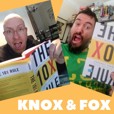 Knox & Fox with a Box of Books.