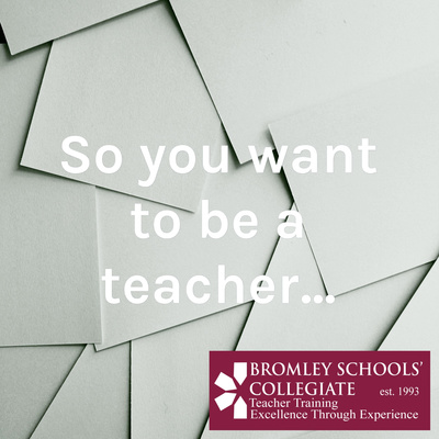 So you want to be a teacher...