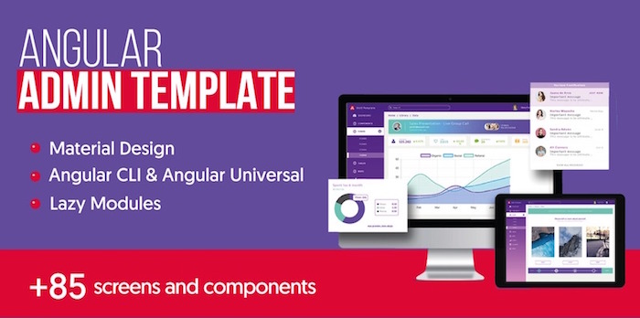 Angular Mega Bundle | 3 premium templates | PWA + Mobile +