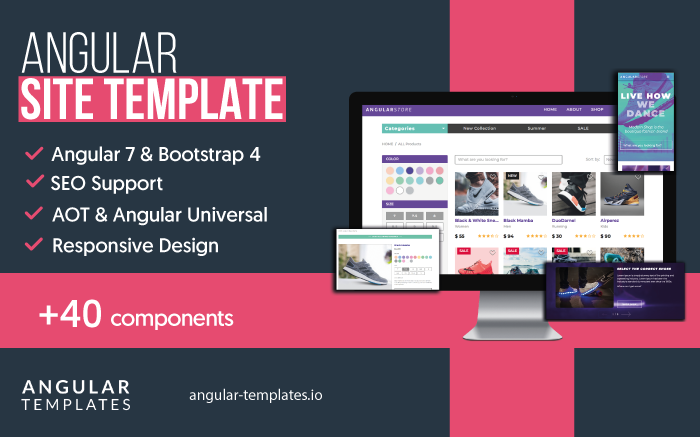 Angular 7 Site Template