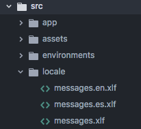 Locale folder structure