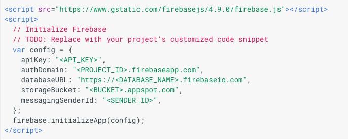 Firebase App Crendentials