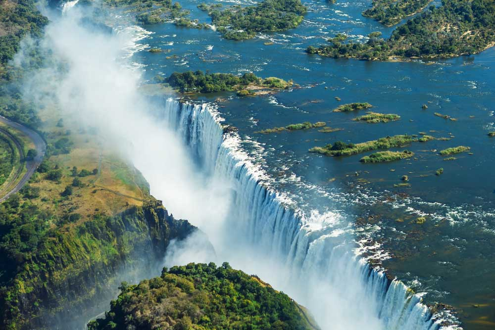 Victoria Falls is the largest curtain of water in the world