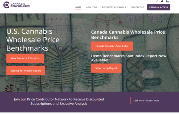 Wholesale cannabis data