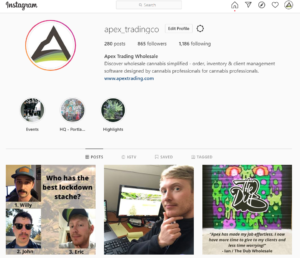 Instagram for cannabis