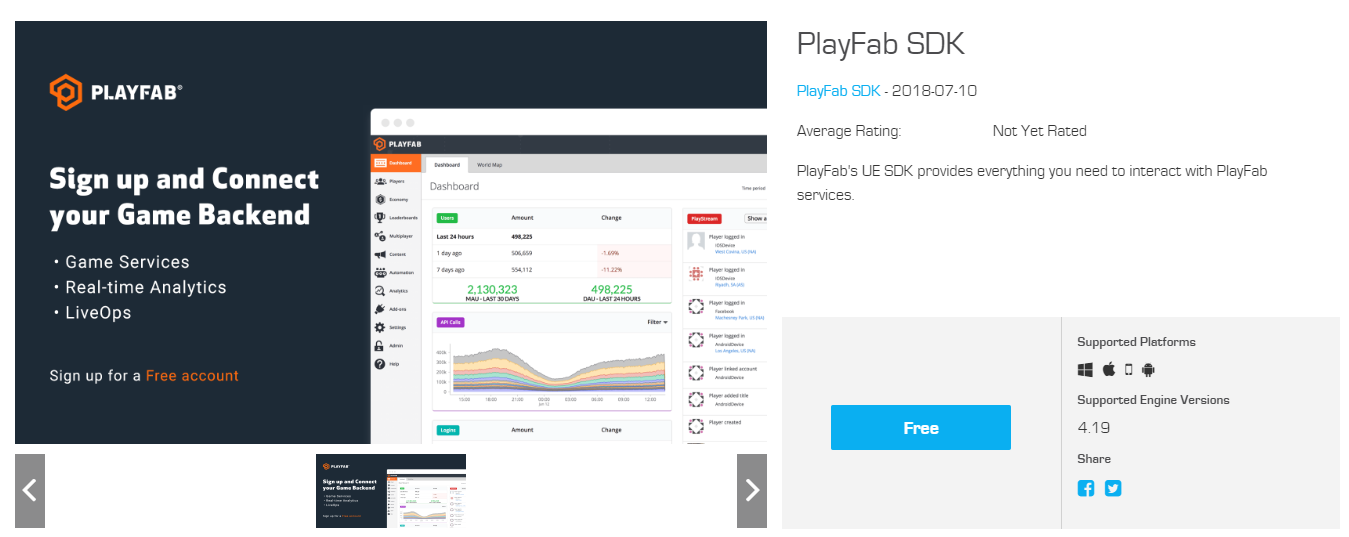 PlayFab Unreal SDK Plugin is now available in the Unreal