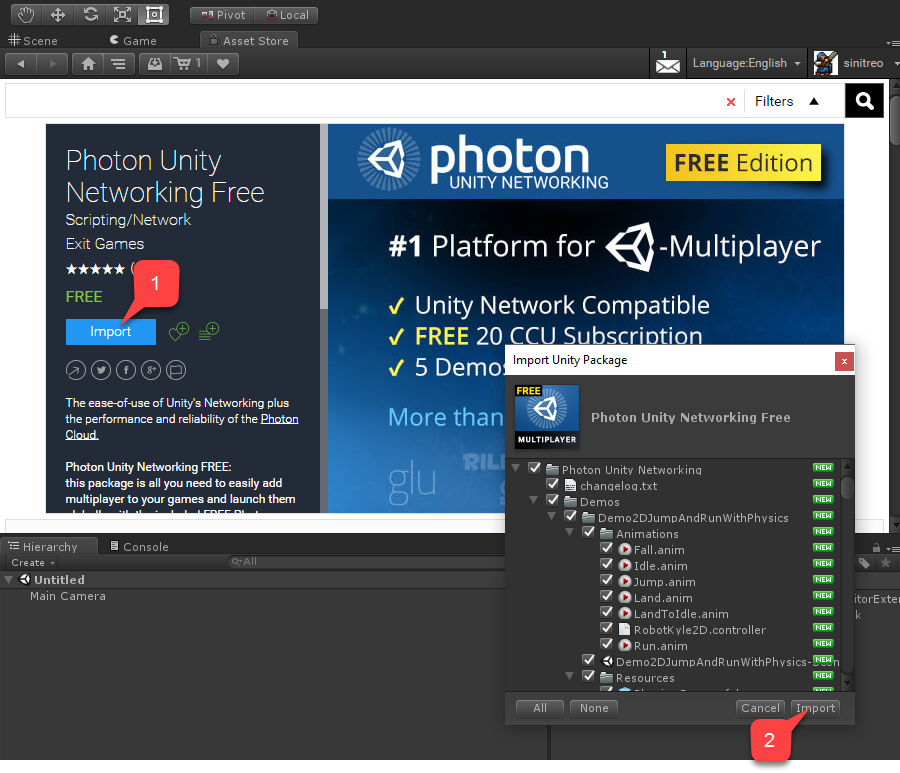 Getting started with Photon and Unity