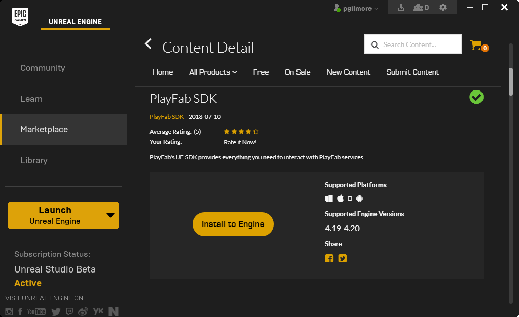 Unreal Marketplace Plugin Getting Started