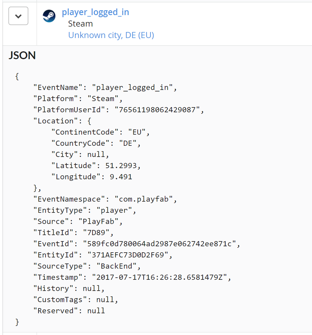 Getting started with playfab snowflake thanks to snowflakes ability to parse any fields of a json object you can access any of these fields lets run a query to count how many players are malvernweather Image collections