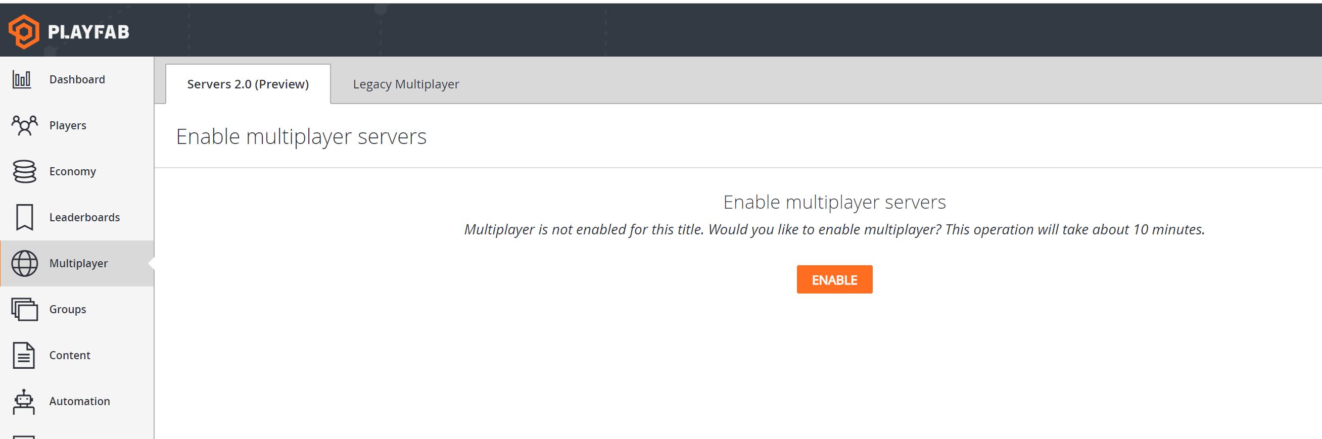 Quickstart for multiplayer servers (Game Manager)