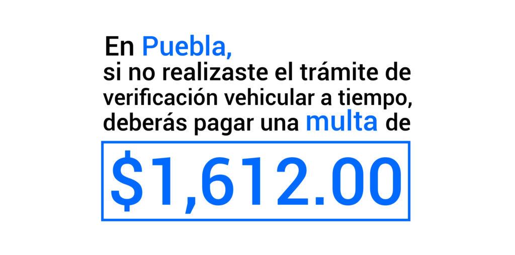 Multa por verificación extemporánea en Puebla