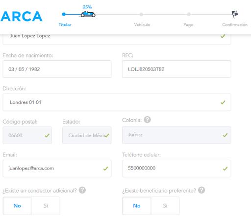 Datos para pagar seguro de Nissan Sentra