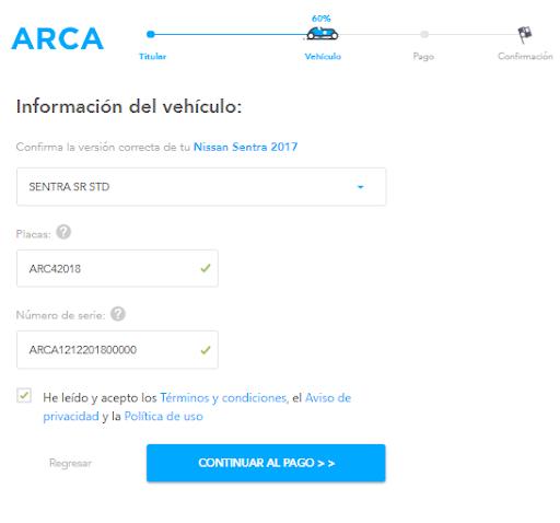 Información del Nissan Sentra