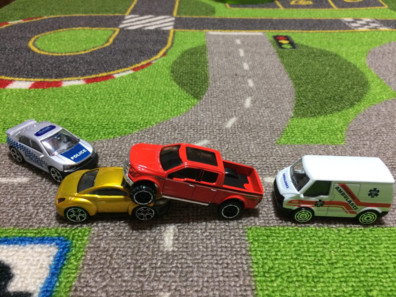 accidente de tránsito juguetes