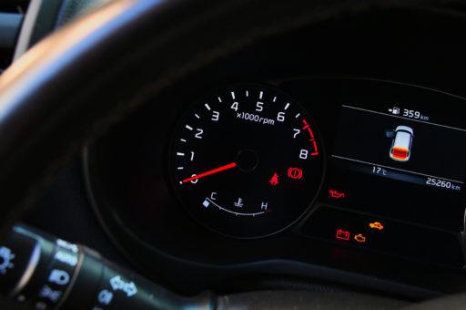 luces del tablero del auto