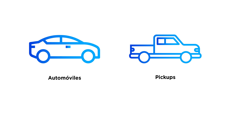 Tipos de vehículos que pueden asegurarse en Él Águila