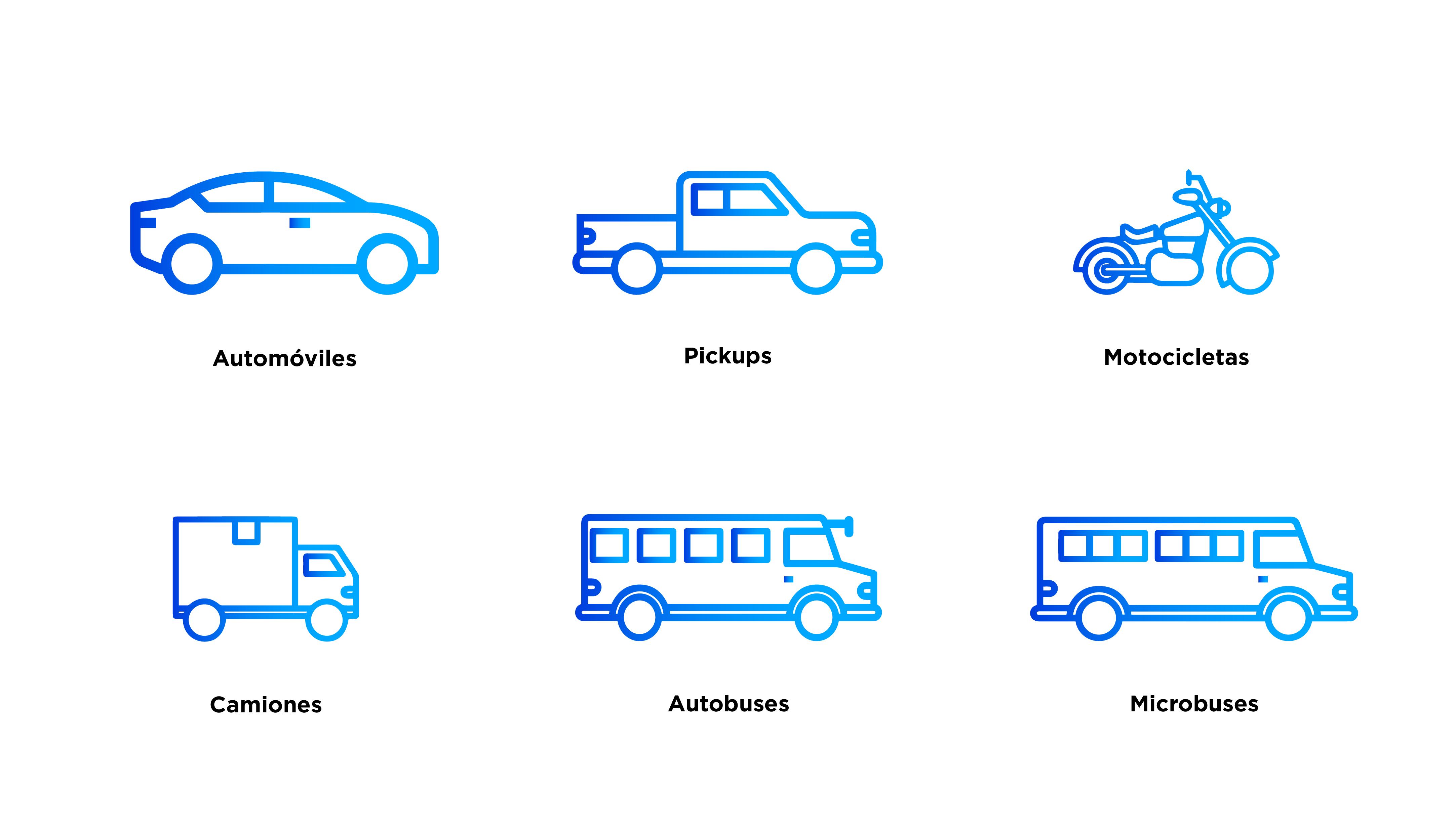 Tipos de vehículos Ve por Más