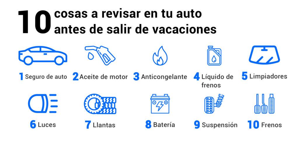 10 cosas a revisar de tu auto antes de salir de vacaciones
