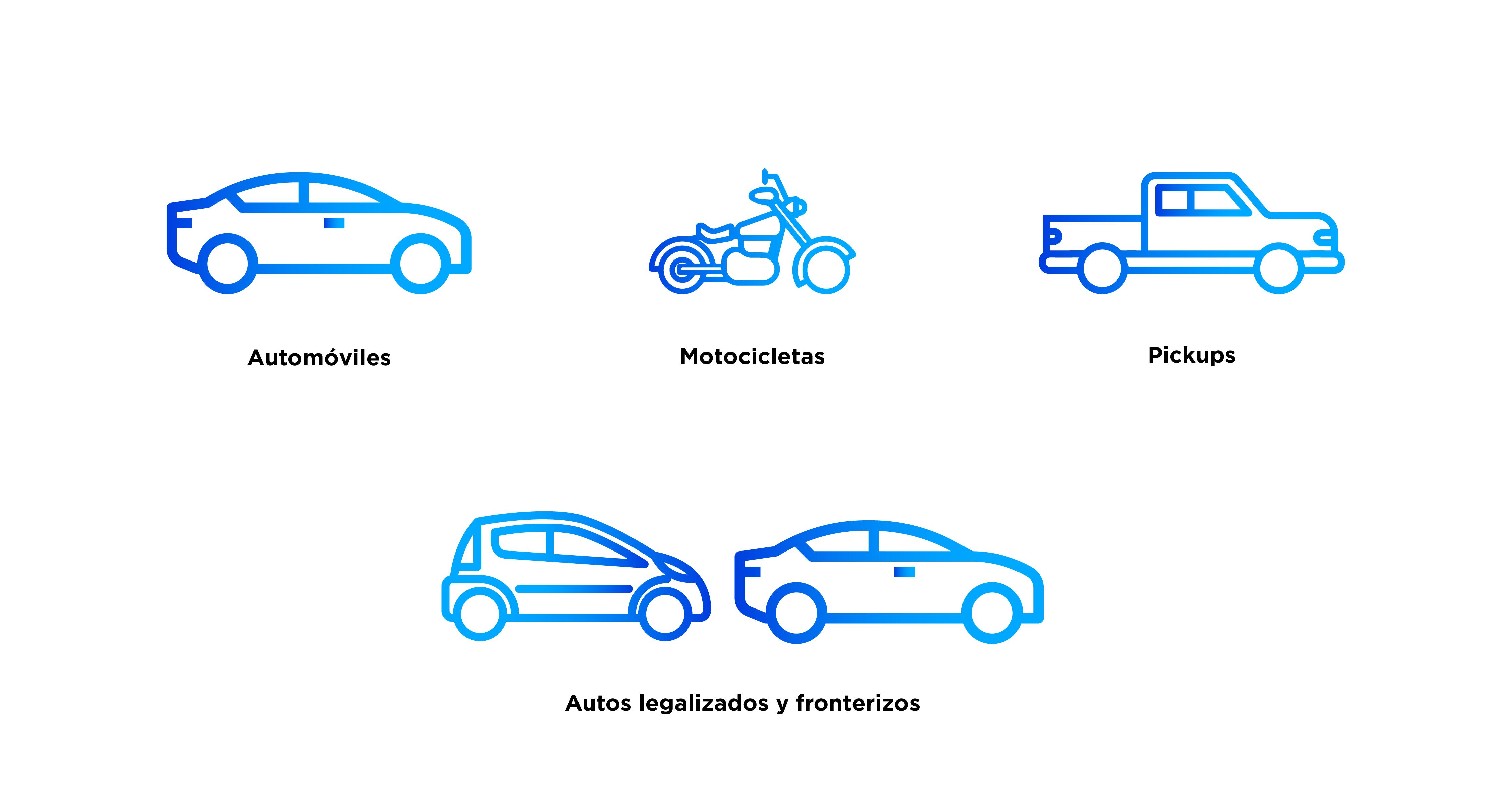 Tipos de vehículos Wibe