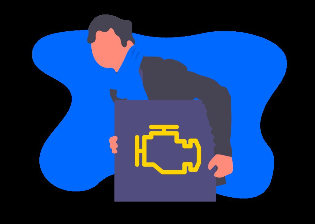 Símbolo de falla en el motor (check engine)