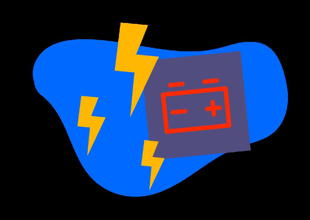 El símbolo de la batería en tu tablero.