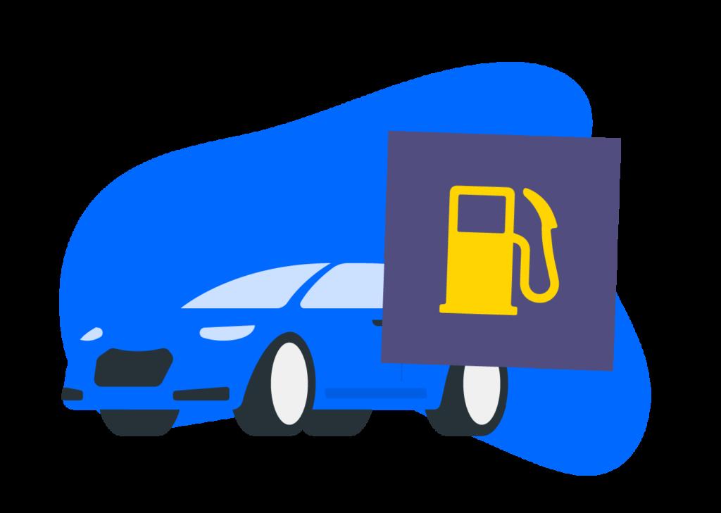 Símbolo de nivel de gasolina bajo