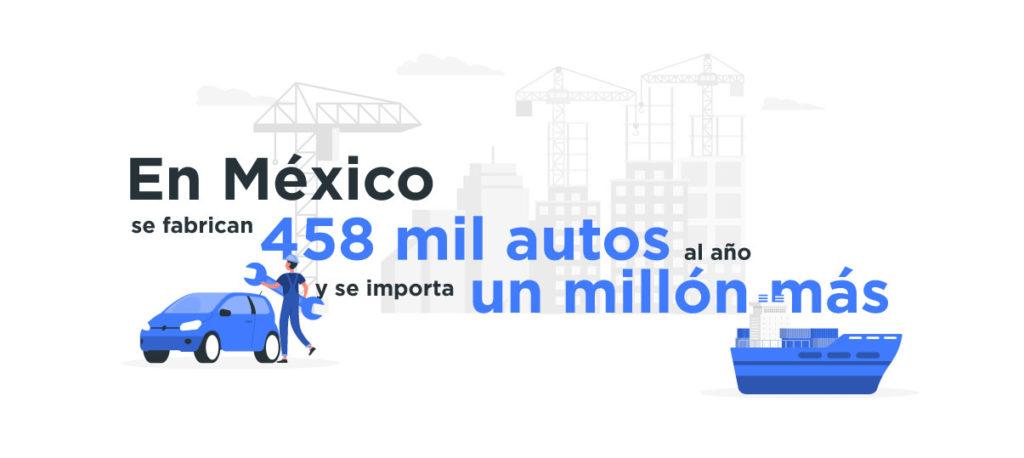La mayoría de los autos ensamblados en México se exportan con mejores dispositivos de seguridad.
