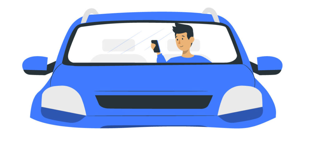 No nos cansaremos de recordarte que no uses el celular mientras manejas.
