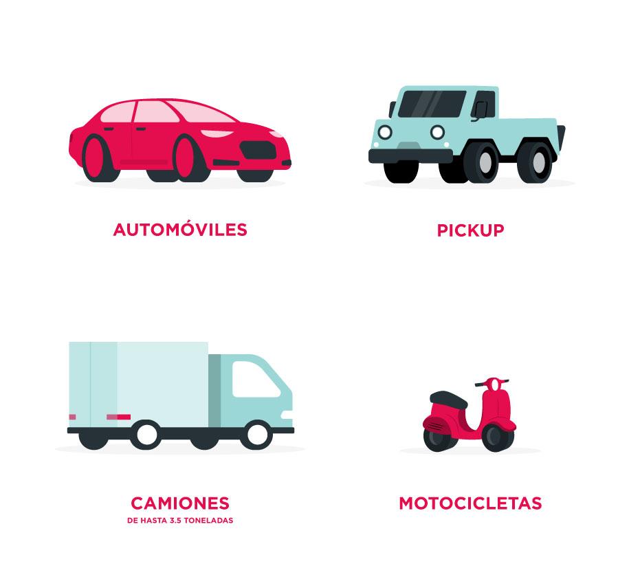 Vehículos asegurados por el seguro de auto BBVA Bancomer