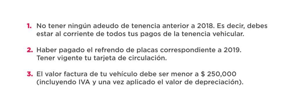Requisitos para el subsidio de tenencia vehicular