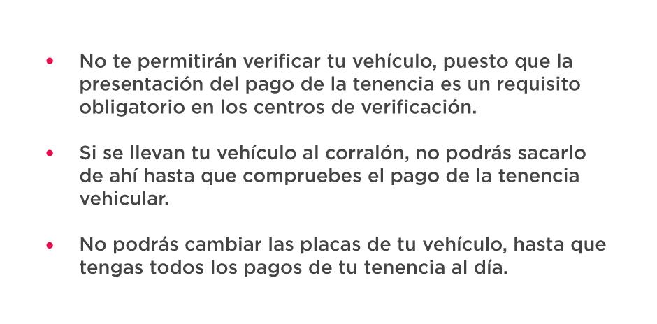 Trámites detenidos por no tener la tenencia vehicular