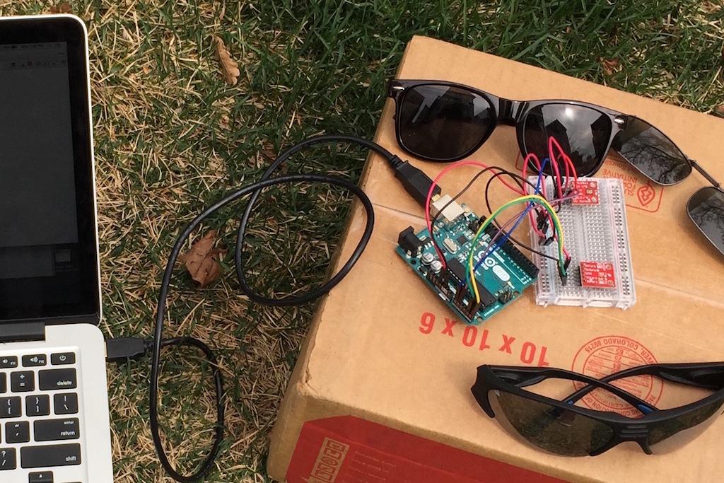 Sunglasses experiment