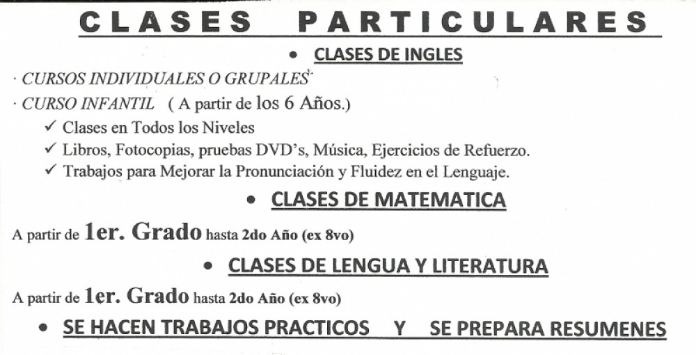Clases particulares Hurl