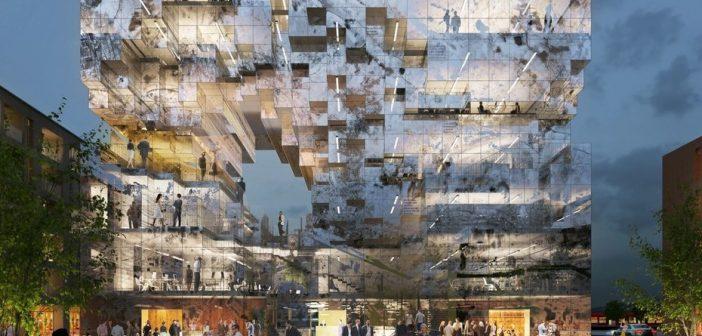 Diseñan un edificio con un código QR en su fachada